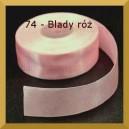 Tasiemka satynowa 25mm kolor 74 Blady róż