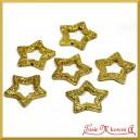 Gwiazdki brokatowe złote  3,5cm/48szt.