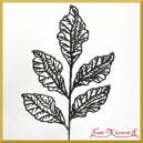Liść ażurowy mały czarny 33cm