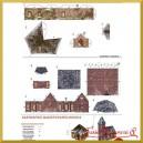 Kartonowa makieta wieża i domek z cegły PM-0004