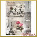 Papier ryżowy A4 R0499 - Paryż wieża rower