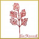Liść ozdobny brokatowy CZERWONY 39cm 242812