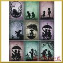 Papier ryżowy A4 R544-Dzieci z parasolkami