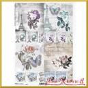 Papier ryżowy A4 R741- róże i wieża