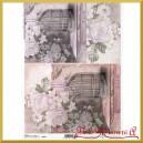 Papier ryżowy A4 R764 - klatki i kwiaty
