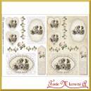 Papier do decoupage KLASYCZNY A4 D0416M - obrazki vintage różyczki