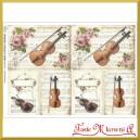 Papier do decoupage KLASYCZNY A4 D0423M - skrzypce