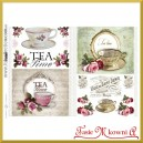 Papier do decoupage KLASYCZNY A4 D0469M - tea time