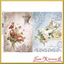 Papier do decoupage KLASYCZNY A4 D0477M - papuga gorset kwiaty