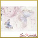Papier do decoupage KLASYCZNY A4 D0484M - błękitne motylki