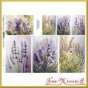 Papier do decoupage KLASYCZNY A4 D0505M - fioletowe kwiaty na łąkach