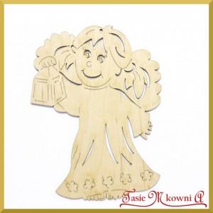 Aniołek dziewczynka z lampką 15cm