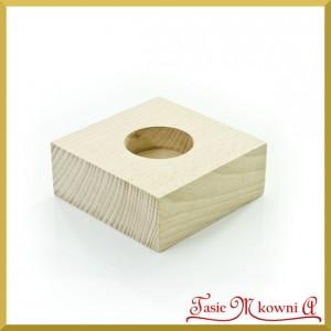 Drewniany świecznik pojedyńczy - 9 cm x 9 cm