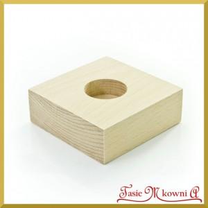 Drewniany świecznik pojedyńczy - 10 cm x 10 cm