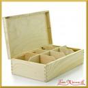 Drewniane pudełko, herbaciarka na 8 przegród