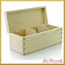 Drewniane pudełko na 3 przegrody, podłużne