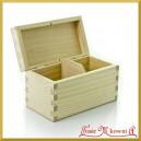 Drewniane pudełko prostokąt na 2 przegrody