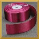 Tasiemka satynowa 25mm kolor 89 Burgund