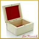 Drewniane pudełko z flokiem - 10 cm x 8 cm