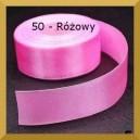 Tasiemka satynowa 25mm kolor 50 Różowa