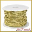 Perełki na sznurku jasno złote 3mm/ 1mb