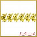 Aplikacje ZAJĄCZEK Z PISANKĄ złoty z czarną folią 3cm 0,5mb