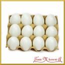 Jajka plastikowe wytłaczanka 12 szt 6cm