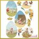 Przegródki ozdobne  - TAG0121-  jajka dziecko i baranki