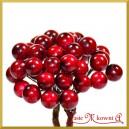 Jagódki czerwone podwójna gałązka 20 owoców