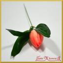 TULIPAN -brzoskwinia kwiat sztuczny z łodygą 24cm