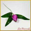 TULIPAN -amarant kwiat sztuczny z łodygą 24cm