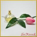 TULIPAN -jasny róż kwiat sztuczny z łodygą 24cm