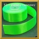 Tasiemka satynowa 25mm kolor 53 Zielona noeonowa