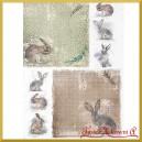 Papier ryżowy KRÓLICZKI - 1354