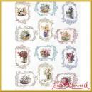 Papier ryżowy KWIATY W 12 OBRAZKÓW - 1330