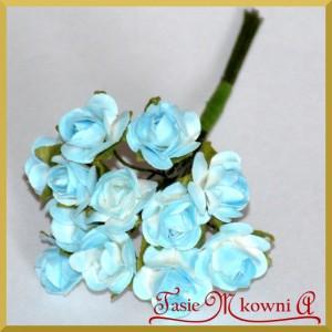 Różyczki papierowe 2cm 12szt. niebieskie