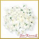 Kwiatuszki materiałowe różyczki ecru 4CM