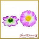 Kwiatuszki materiałowe stokrotki małe fioletowe 3,5cm