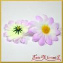 Kwiatuszki materiałowe stokrotki DUŻE żółto-liliowe 4,5cm