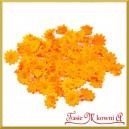 Kwiatuszki materiałowe stokrotki małe pomarańczowe 3,5cm