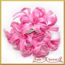 Kwiatuszki materiałowe agapantus różowy gałązka 10 kwiatów