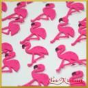 Flamingi - zestaw naklejek ozdobnych 3,5cm/24szt.
