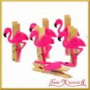 Flamingi - zestaw klamerek ozdobnych 4,5cm/6szt.