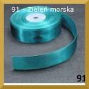 Tasiemka satynowa 25mm kolor 91 Zieleń morska