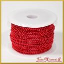 Perełki na sznurku czerwone 3mm/ 1mb