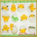 Serwetka do Decoupage kurczaczki w skorupkach