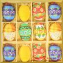 Serwetka do Decoupage pisanki kolorowe w pudełku