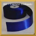 Tasiemka satynowa 25mm kolor 60 Ciemno niebieska