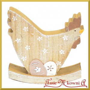KURA drewniana - dekoracja wielkanocna 1szt/11cm