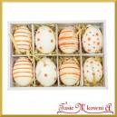 Zestaw pomarańczowych jajek z zawieszką 8cm/8szt.